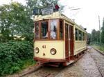 De replica van de Groningse tram 41 op de Electrische Museumtramlijn Amsterdam