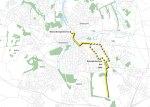 Geplande tramlijn in Odense