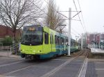 De sneltram naar Utrecht in IJsselstein