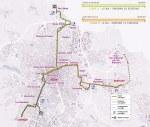 De tramlijnen A en B