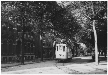 Tram van lijn 3 op het Zuiderdiep